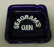 Vintage Seagrams Gin Ashtray. Cobalt Blue