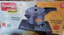 Prestige Deluxe Plus Hard Anodized Black Pressure Cooker 5-Liter Open Box New