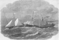 SHIPBUILDING. Jointed Iron Ship Connector, antique print, 1863