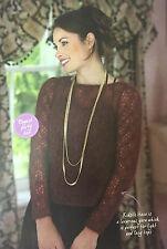 KNITTING PATTERN Rowan Ladies Backless Lace Design Jumper Womens Sweater PATTERN