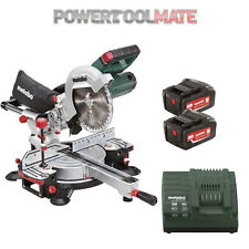 Metabo KGS 18 LTX 216 18V 216mm Cordless Mitre Saw with 2 x 6.2Ah Batteries