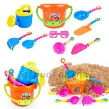 9pcs Set Sand Shovel Spade Bucket Rake Beach Play Toy Kids Seaside Water Tool AU