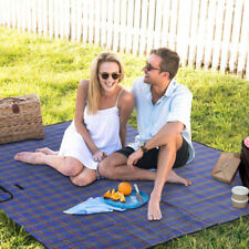 Extra Large portable Waterproof Picnic Beach Blanket Rug Mat Travel Camping Blue