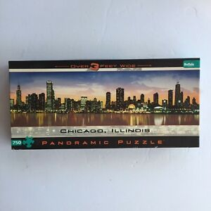 Buffalo Games Chicago Illinois 750 Piece Panoramic Jigsaw Puzzle 🧩 3 FT