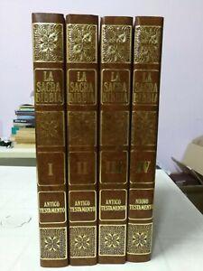 La Sacra Bibbia. Traduzione Mons. Martini - Tavole di Gustavo Doré - 4 Volumi