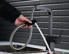 Pull Out Spray Black Kitchen Faucet Sink Designer Mixer Taps 360° Swivel Spout