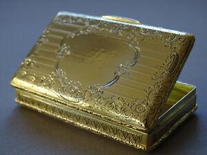 BIEDERMEIER  TABATIERE   LINZ 1844 feuervergoldet & allerfeinst graviert