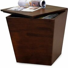 Meza Storage Cube, Antique Walnut Living Room Decor Free Shipping