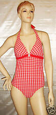 Tommy Hilfiger 1 PC Monokini SwimSuit Red/White Large*