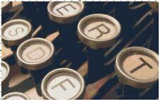 Vintage Underwood Typewriter Keys DIGITAL Counted Cross-Stitch Pattern Chart