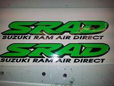 2 x SRAD Suzuki Decals / Graphics / Stickers Dayglo Fluorescent Green / Black