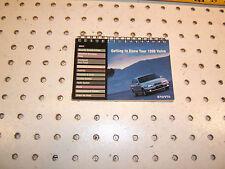 Volvo 1998 S70/V70 getting to know 1 booklet , 1998  VOLVO S70/V70 one BOOKLET