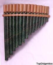 Authentic Native PAN FLUTE 15 Bamboo Pipes Beautiful Zampona FREE World Shipping