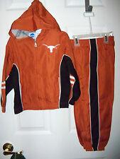Texas Longhorns Full Zip Hooded Jacket Pants Set Youth Girls Boys Size 4 / 5 Nwt