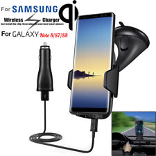 Qi Wireless Fast Charger Dock Car Holder Charge Mount Pad For Samsung S8 Note 8