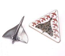 Raf Aeronautica Vulcan Bomber & Rosso Frecce Escort Spilla Badge Set Regalo