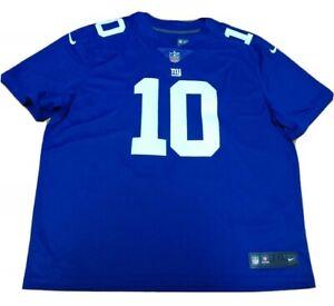 Men's Nike New York Giants Eli Manning Stitched Blue Jersey Size 3XL 850906-497