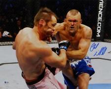 Chuck Liddell Autographed UFC 16x20 Landing Punch Photo- Beckett Auth *Blue