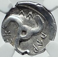 Dynasts of Lycia PERIKLES Ancient Silver Greek Coin LION TRISKELES NGC i77628