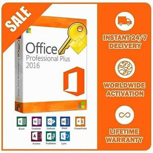 ®Microsoft®Office 2016 Professional Plus Full 32/64 BIT LICENSE KEY INSTANT