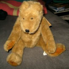 "Boyds Bears Bubba 16"" Jointed Bear - Tan Brown Hinged Neck Arm Leg Original Tags"