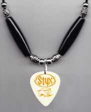 Styx Tommy Shaw Signature White Guitar Pick Necklace - 2003 Cyclorama Tour
