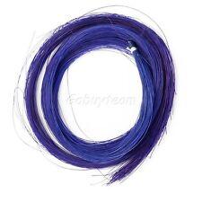 1 Hank de véritables poils de cheval, bleu, pour 4/4 violon archet ou autre utilisation, royaume-uni vendeur!!!