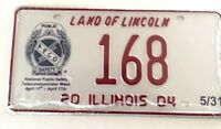Illinois 2004 Old License Plate Special Event Public Safety Garage Collection