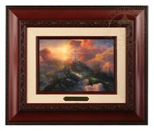 Thomas Kinkade Brushwork The Cross (Brandy Frame)