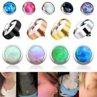 Dermal Anchor Micro Flat Gem Opal Dermal Head Skin Surface Piercing Top Jewelry