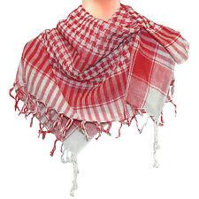 Pañuelo palestina rojo-blanco 100x100cm algodón Arafat cuadros cuello