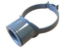 "Grey Pipe 110mm - 40mm 43mm Boss Clip Strap Boss 1 1/2"" Glued Solvent Adaptor"