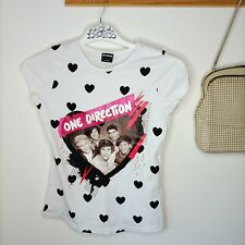 One Direction Girls White T Shirt Official Band Merchandise 1D 146/152 or XS wmn