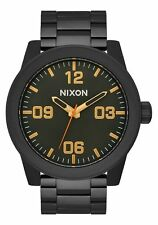 NEW NIXON CORPORAL SS Men's Watch 48mm | ALL BLACK / SURPLUS A346 1032