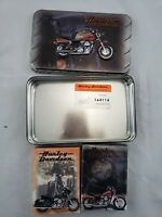 1999 DYNA HARLEY DAVIDSON LIMITED EDITION TIN & 2 SEALED DECKS PLAYING CARDS