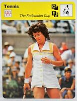 "Billie Jean King 1978 Pro Tennis Sportscaster 6.25"" Card 38-24 Federation Cup"