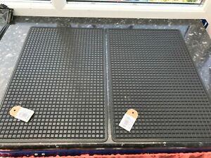 2 x heavy duty rubber tracker utility door/car/garage/outdoor mats