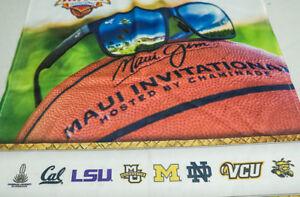MAUI INVITATIONAL BASKETBALL TOURNMENT LE CLOTH MARQUETTE,LSU,CAL,VCU,