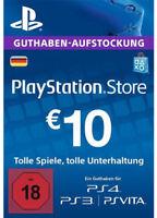 DE €10 EUR PLAYSTATION NETWORK Prepaid Card PSN PS3 PS4 PSP 10 Euro
