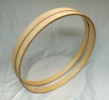 "Pair of 22"" Wooden Bass Drum Hoops"