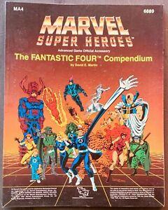 TSR MARVEL SUPER HEROES THE FANTASTIC FOUR COMPENDIUM GAMEBOOK MA4 6889 1987