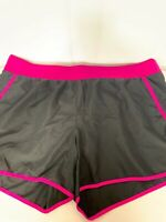 Tek Gear Dry Tek Woman Athletic Shorts Sz 2x  Black Pink Running Workout walking
