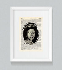 God Save The Queen Sex Pistols Vintage Dictionary Book Print Wall Art