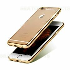 Gold Ultra Thin TPU Gel Silicone Protective Case iPhone 6 6S Shockproof Cover