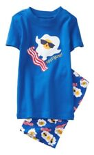 NWT Gymboree True Blue Summer Boys Eggs Bacon Eggstreme Pjs Size 2t