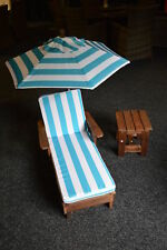 Kingfisher Kids Sun Lounger Set Garden Furniture With Umbrella and Side Table6