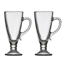 iStyle Set of 2 Hot Chocolate Glasses Cafe Style Modern Latte Handled Mugs