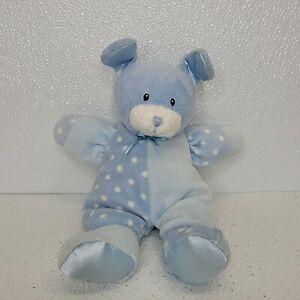 Baby Gund Dottie Dots Blue PUPPY Rattle crinkle Plush 58240 polka dot soft