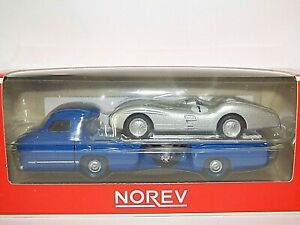 Norev 1/87th Scale Mercedes-Benz Race Transporter and W196 Race Car
