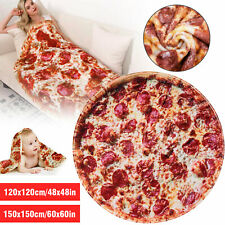 Soft Comfort Food Creations Pizza Wrap Blanket Perfectly Round Hamburger Throw
